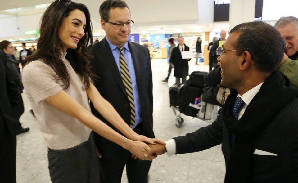 Nasheed praises human rights lawyer Amal Clooney